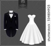 vector illustration of tuxedo... | Shutterstock .eps vector #534804925