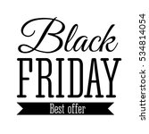 black friday sale inscription... | Shutterstock . vector #534814054