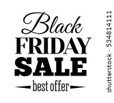 black friday sale inscription... | Shutterstock . vector #534814111