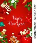 new year holiday greeting... | Shutterstock . vector #534814429