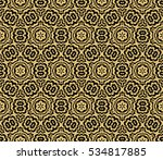 black floral creative geometric ... | Shutterstock .eps vector #534817885