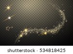 magic like golden glittering... | Shutterstock .eps vector #534818425
