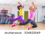 two fitness models exercising... | Shutterstock . vector #534820069