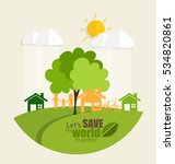 eco friendly. ecology concept... | Shutterstock .eps vector #534820861