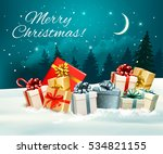 holiday christmas greeting card ... | Shutterstock .eps vector #534821155