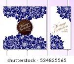 romantic invitation. wedding ... | Shutterstock . vector #534825565