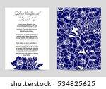 romantic invitation. wedding ... | Shutterstock . vector #534825625