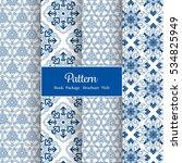 vector asian pattern set  ...   Shutterstock .eps vector #534825949