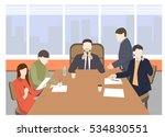 business characters. working...   Shutterstock .eps vector #534830551