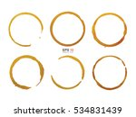coffee cup stain rings on white ... | Shutterstock .eps vector #534831439