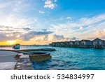beautiful sunrise with  water... | Shutterstock . vector #534834997