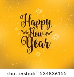 happy new year 2017 text design.... | Shutterstock .eps vector #534836155