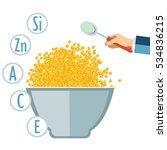 baby food. children's porridge. ... | Shutterstock .eps vector #534836215