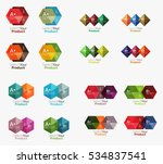 collection of geometric paper... | Shutterstock .eps vector #534837541