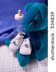 babies shoes  teddy bear and... | Shutterstock . vector #534839
