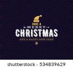 merry christmas text design.... | Shutterstock .eps vector #534839629