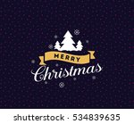 merry christmas text design.... | Shutterstock .eps vector #534839635