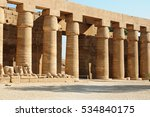 Ancient Egypt. The Columns Are...