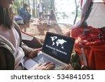 worldwide network globalization ... | Shutterstock . vector #534841051