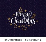 merry christmas text design.... | Shutterstock .eps vector #534848341