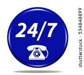 24 7 support phone icon.... | Shutterstock . vector #534848899