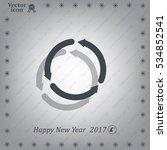 circular arrows vector icon | Shutterstock .eps vector #534852541