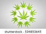 marijuana 3d illustration. big... | Shutterstock . vector #534853645