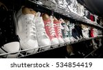 variety of the shoes on shelves ... | Shutterstock . vector #534854419