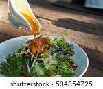 vegetable salad and salad... | Shutterstock . vector #534854725