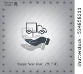 car in hand   vector icon | Shutterstock .eps vector #534858211