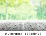 empty wooden table with party... | Shutterstock . vector #534858439