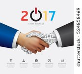 business 2017 handshake success ... | Shutterstock .eps vector #534858469
