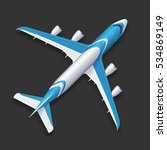 realistic airplane template top ... | Shutterstock .eps vector #534869149