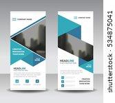 blue business roll up banner... | Shutterstock .eps vector #534875041
