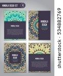 tribal mandala design set.... | Shutterstock .eps vector #534882769