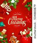 christmas card design.... | Shutterstock . vector #534883879