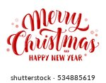 merry christmas and happy new... | Shutterstock .eps vector #534885619