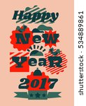 greeting card happy new year.... | Shutterstock .eps vector #534889861