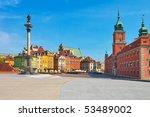 Castle Square In Warsaw  Poland