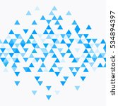 abstract triangle blue... | Shutterstock .eps vector #534894397