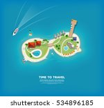 time to travel banner with top... | Shutterstock .eps vector #534896185