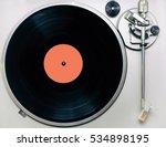 vinyl player  vintage vinyl...   Shutterstock . vector #534898195