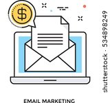 email marketing vector icon | Shutterstock .eps vector #534898249