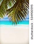 tropical island. the seychelles.... | Shutterstock . vector #534900595