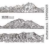 mountains ranges. set. nature... | Shutterstock .eps vector #534900655