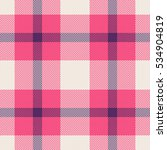 pink  blue and white tartan... | Shutterstock .eps vector #534904819