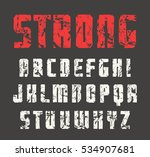 sanserif font in the style of... | Shutterstock .eps vector #534907681