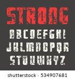 sanserif font in the style of... | Shutterstock .eps vector #534907681