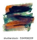 brush stroke and texture. smear ... | Shutterstock . vector #534908209