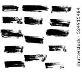 black ink vector brush strokes. ... | Shutterstock .eps vector #534915484